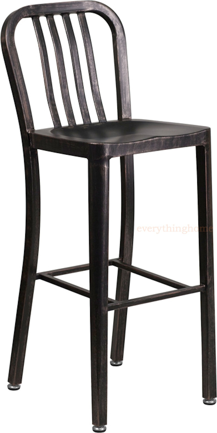 Miraculous Details About Black Antiqued Gold Navy Style Bar Stool High Top Cafe Patio Chair In Outdoor Machost Co Dining Chair Design Ideas Machostcouk