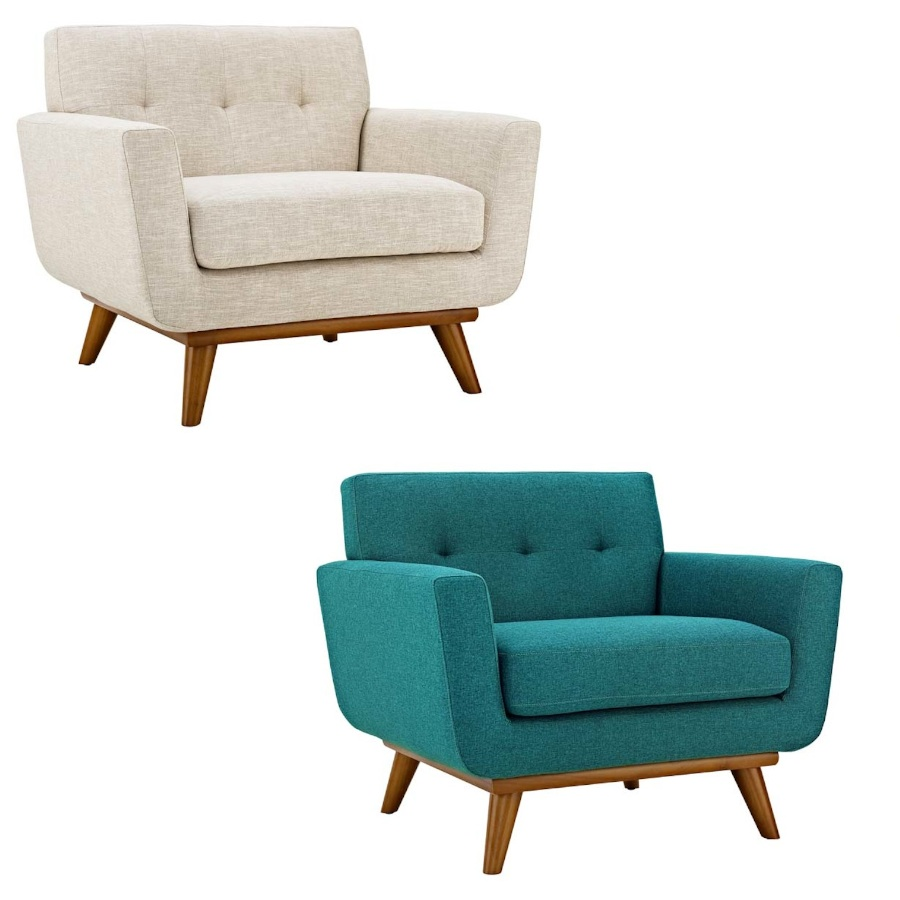 Phenomenal Details About Classic Mid Century Modern Tufted Club Arm Chair Beige Tweed Or Teal Blue Gamerscity Chair Design For Home Gamerscityorg