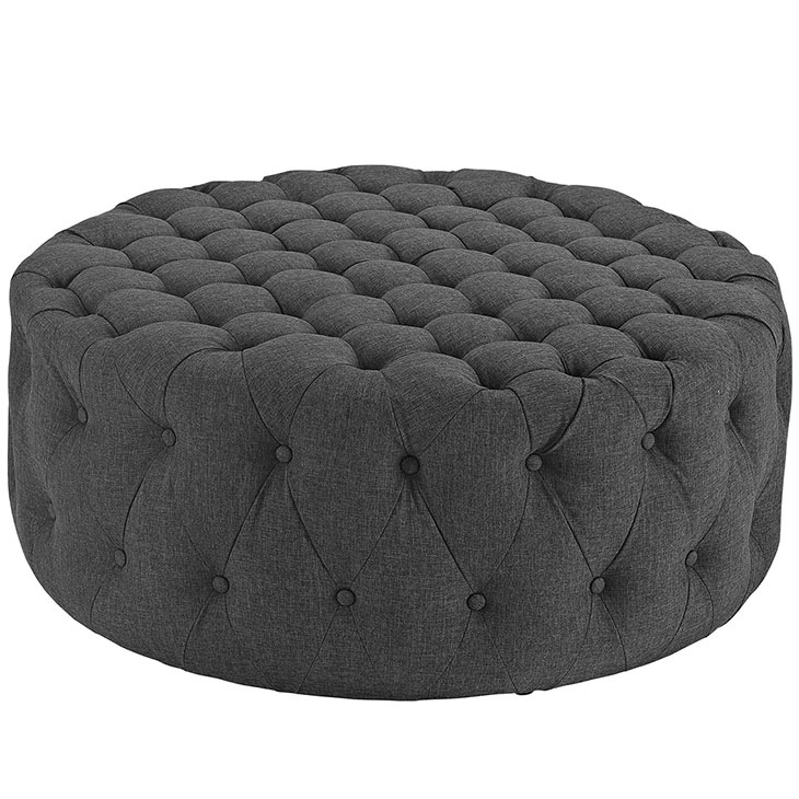 Large Round Coffee Table Cocktail Ottoman Button Tufted 14