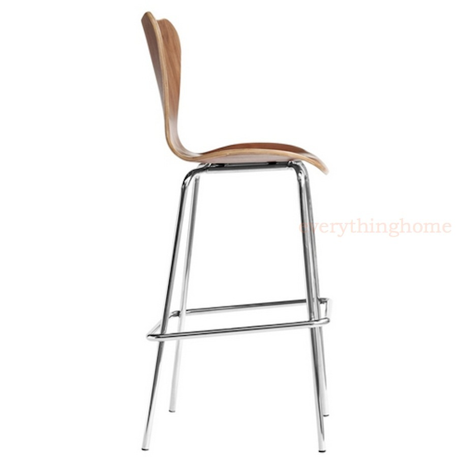 Arne Jacobsen Series 7 Style Bar Stool Molded Plywood
