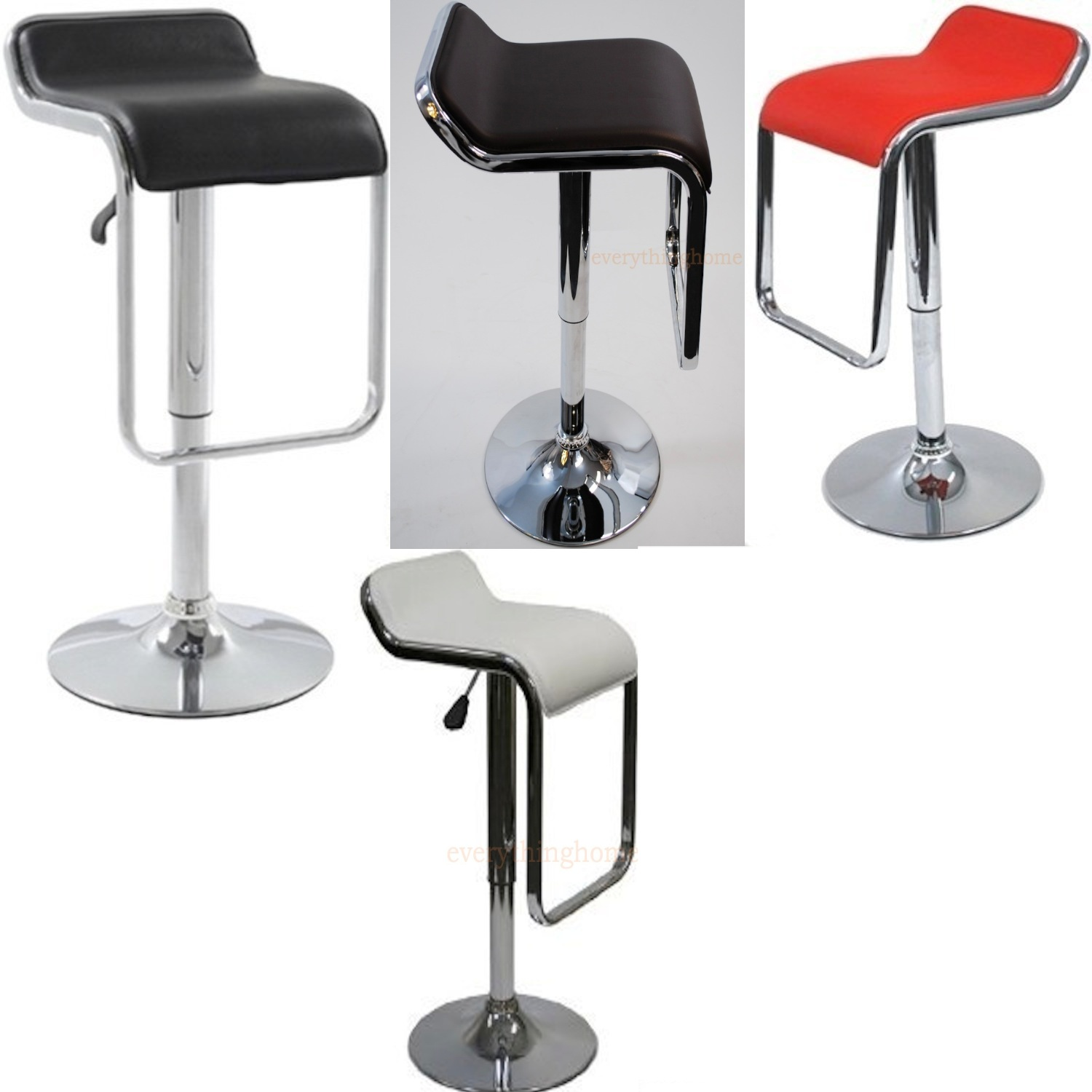 Pleasant Details About Lem Adjustable Bar Stool Swivel Modern Black Brown White Or Red Steel Base New Pdpeps Interior Chair Design Pdpepsorg
