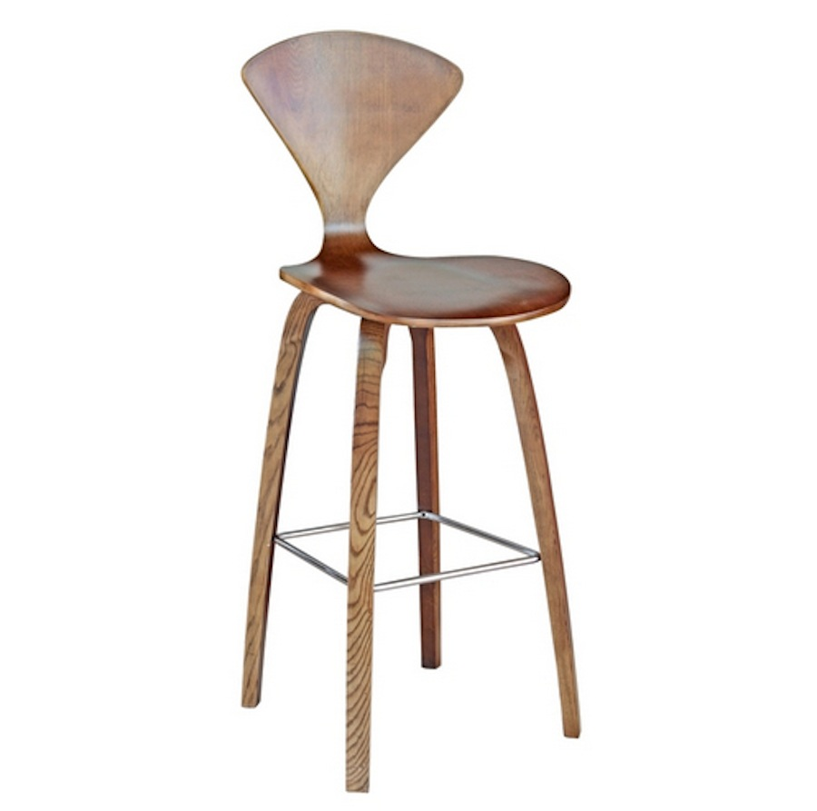 Marvelous Details About Walnut Finish Wooden Curved Molded Plywood Bar Stool Cherner Style 30 Hgt Beatyapartments Chair Design Images Beatyapartmentscom