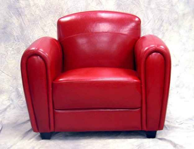 Leather Office Chair Pottery Barn: Club Cigar Chair Deco Red Full Genuine Leather New 3007