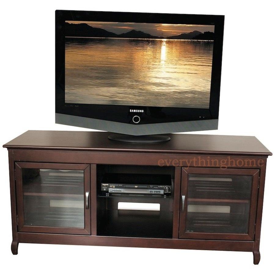 62 wide hi boy credenza a v espresso tv stand solid wood veneer modern design ebay. Black Bedroom Furniture Sets. Home Design Ideas