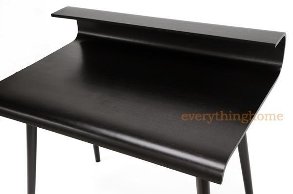 modern dark brown wenge birch wood writing office desk