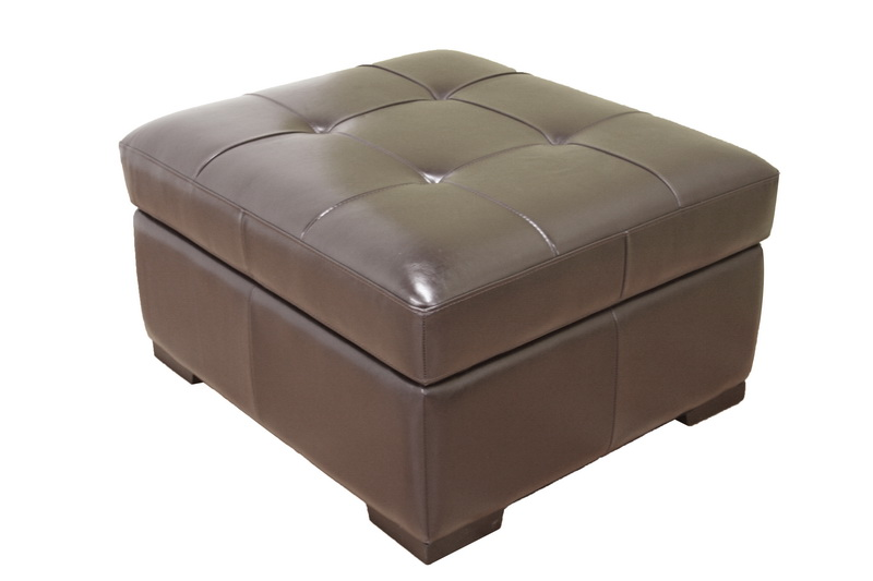 dark brown full leather sleeper ottoman w pull out hideaway stowaway twin bed ebay. Black Bedroom Furniture Sets. Home Design Ideas
