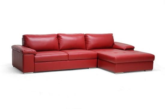 Leather Chaise Lounge Sofa Brown Sectional