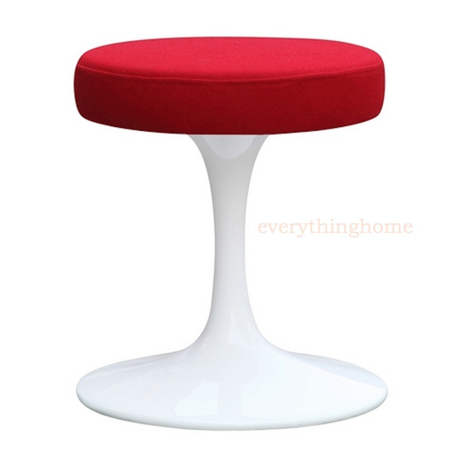 Magnificent Details About Tulip Dining Stool Chair Red Fabric Eero Saarinen Style White 16 Height Modern Andrewgaddart Wooden Chair Designs For Living Room Andrewgaddartcom