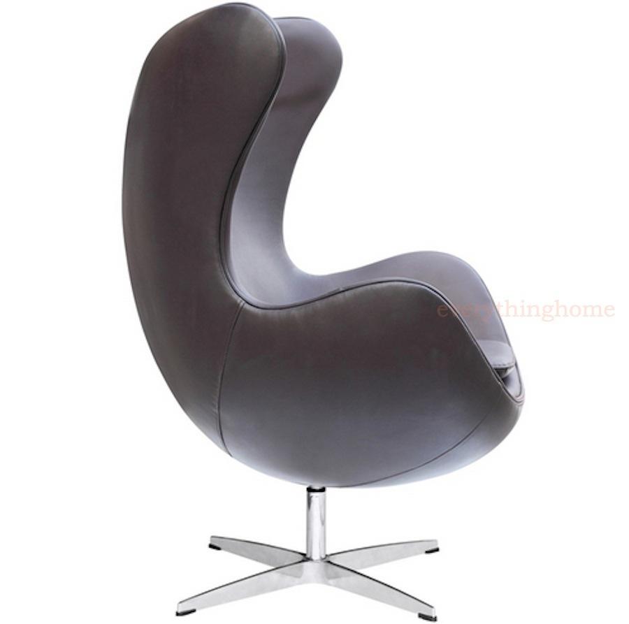 Arne jacobsen egg chair full italian leather fiberglass shell red blk brown whi ebay - Fiberglass egg chair ...