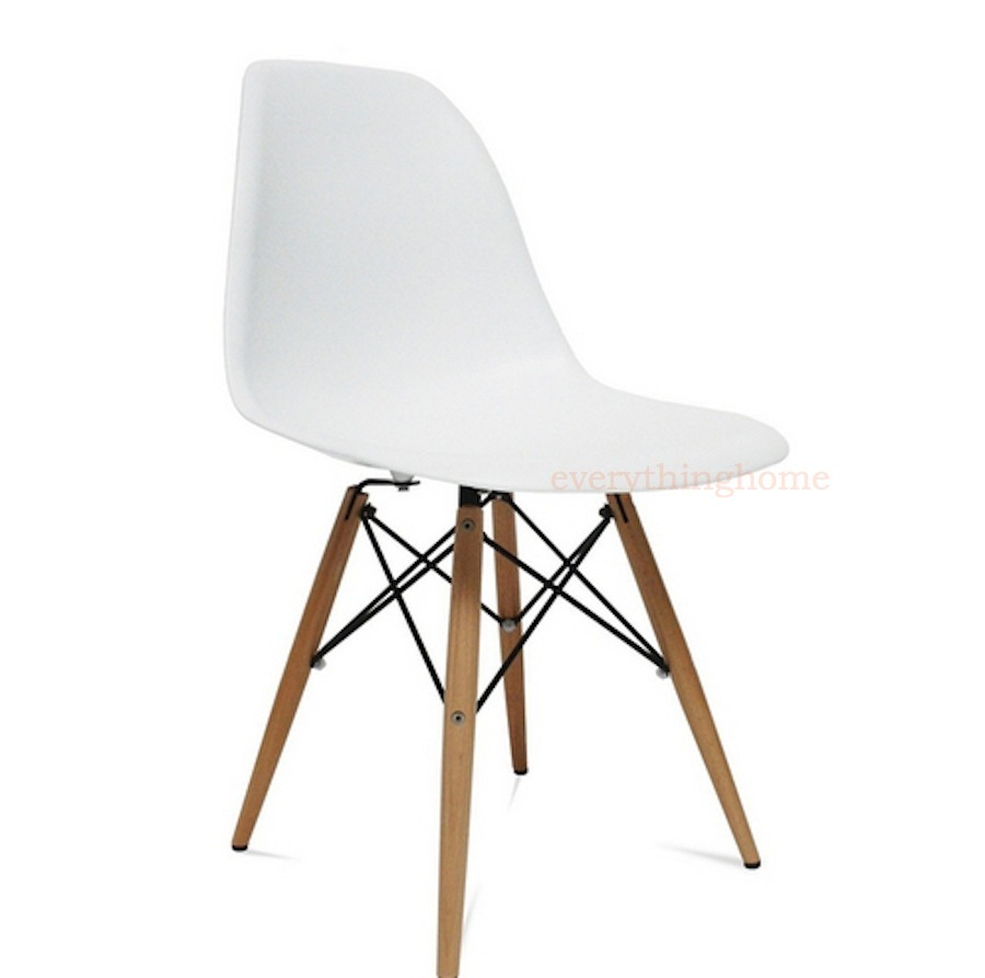 Magnificent Details About White Eiffel Plastic Shell Pyramid Dining Side Chair Wood Leg Dowel Base Bralicious Painted Fabric Chair Ideas Braliciousco