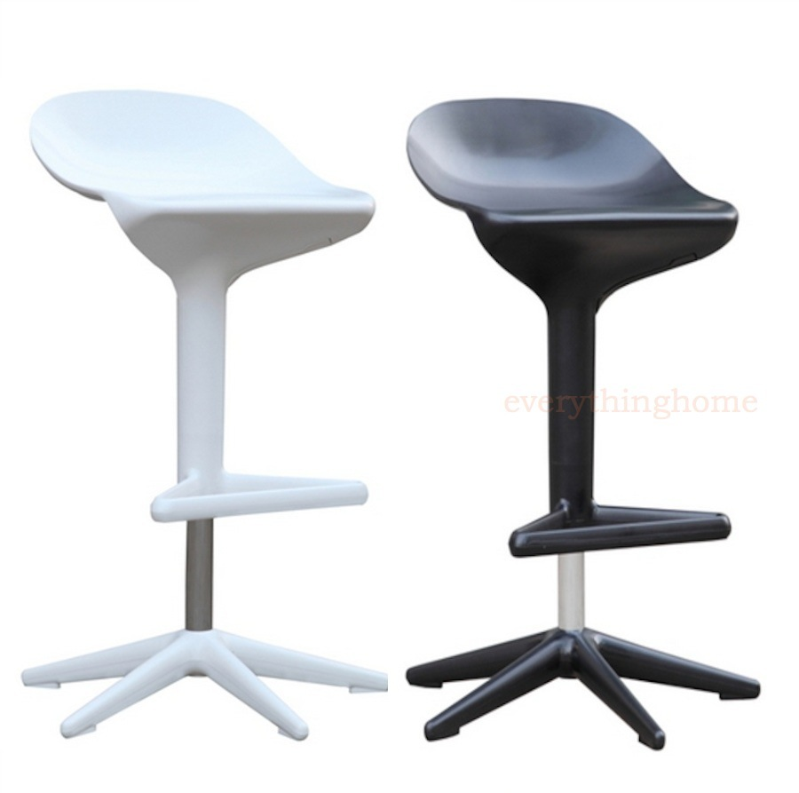 Prime Details About Modern White Black Swivel Abs Adjustable Saddle Bar Counter Stool Chrome Base Gmtry Best Dining Table And Chair Ideas Images Gmtryco