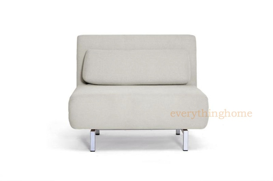 modern cream twill fabric convertible chair sofa chaise. Black Bedroom Furniture Sets. Home Design Ideas