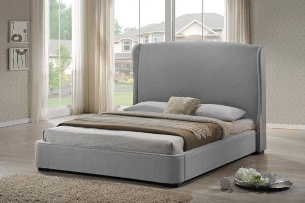 your king queen or full sized modern platform bed is outfitted with a solid rubberwood frame - Wingback Bed Frame