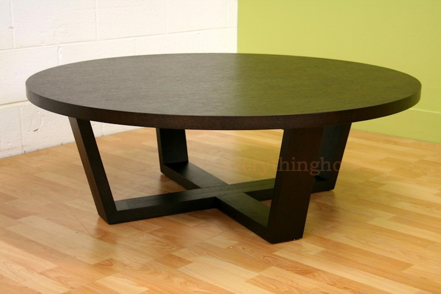 Http Www Ebay Com Itm Modern Black Stained Oak Wood Coffee Table X Wood Legs Round Designer Style 231002205094